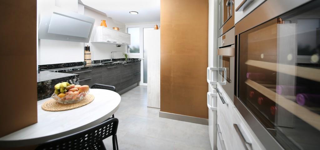 Cocinas pintadas y alicatadas papel pintado en blanco y negro with cocinas pintadas y - Cocinas alicatadas ...