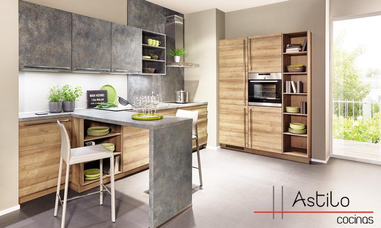 Muebles modernos de cocina para organización del espacio